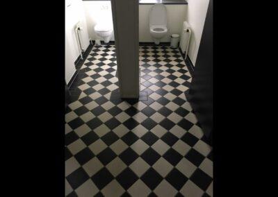 bygning af toilet rum